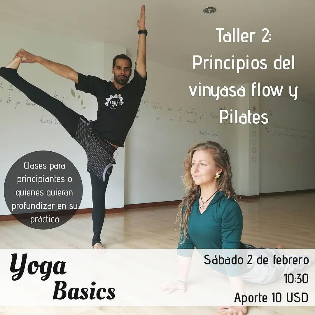 Taller de Vinyasa Flow y Pilates este sábado 2/2