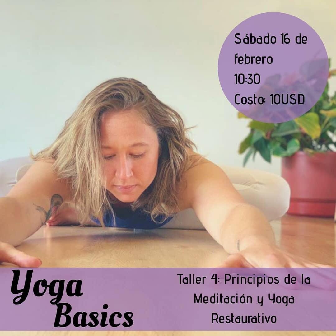 Este sábado:  Principios de la meditación y Yoga restaurativo